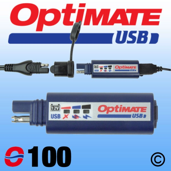 O100 OptiMate SAE USB Charger 2400mA