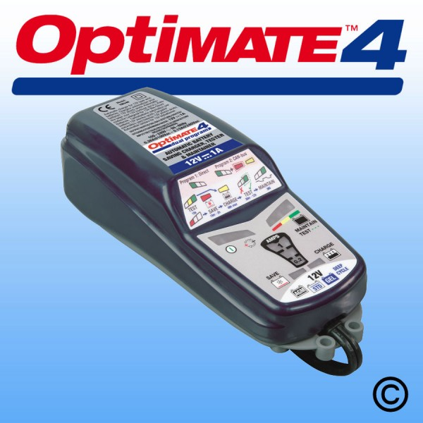OptiMate 4 Dual Program 12V Battery Charger/Optimiser Can-Bus ready