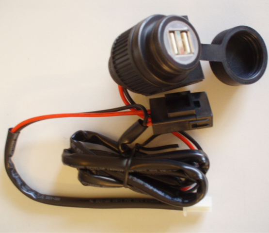 Bike-it 12 volt dual USB power socket