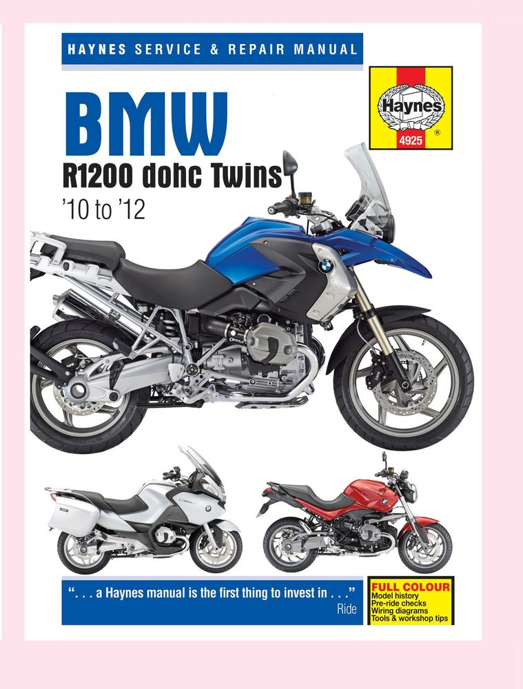 Haynes BMW R1200 Twins 10 to 12 Manual