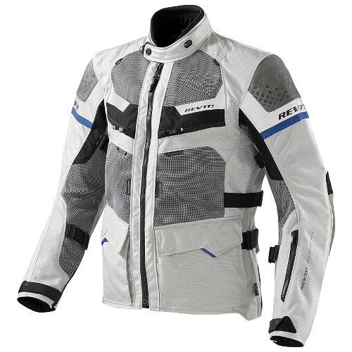 REV'IT Cayenne Pro Jacket - Light Grey/Blue