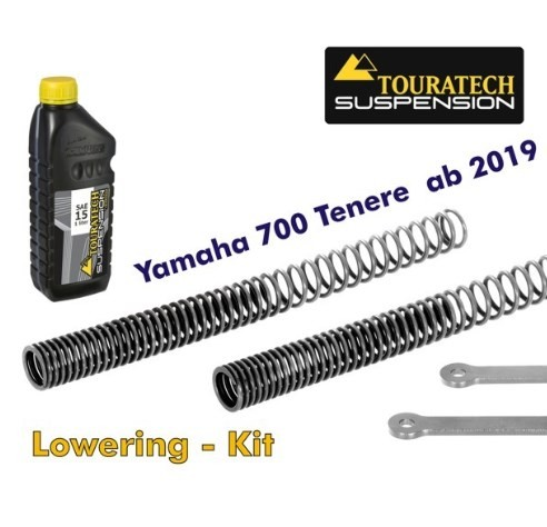 Touratech Lowering KIT -35mm for Yamaha 700 Tenere from 2019 fork springs and reversing levers