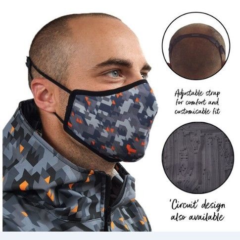 SPADA Face Mask Camo Design