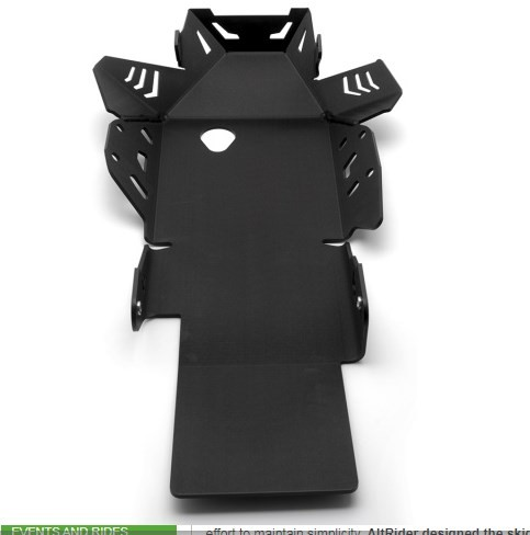 AltRider Skid Plate for the BMW R1250GS/GSA - Black - With Mounting Bracket