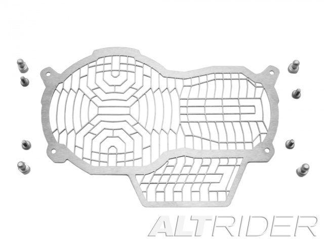 AltRider Stainless Steel Headlight Guard Extended Lens for the BMW R1200 GS Water Cooled