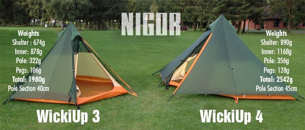 Nigor WickiUp 4 Tent with full size inner