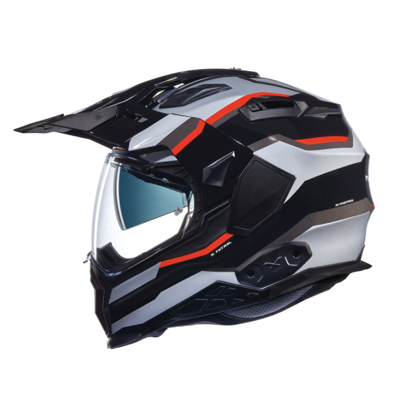 Nexx X.Wed 2 Helmet - X-Patrol Titanium/Blue/Red