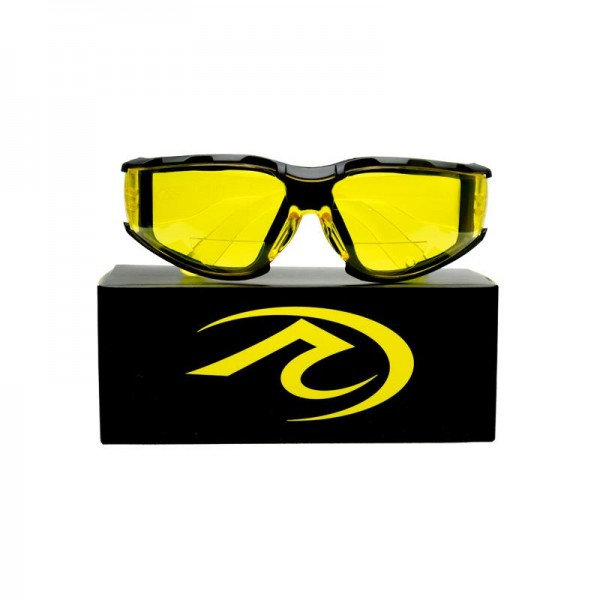 Yellow Riding Glasses with reading portion for Instruments, GPS ETC