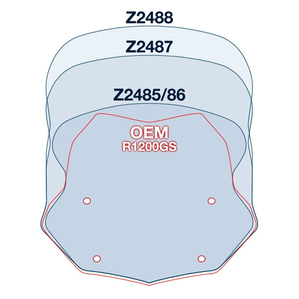 ZTechnik V-Stream Front Screen Clear Tall R1200GS/GSA LC